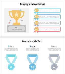 트로피 및 메달 인포 그래픽 다이어그램_00