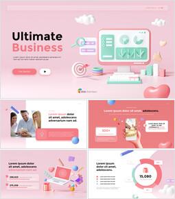 Ultimative Business-3D-Illustration Schieben Sie PPT_13 slides