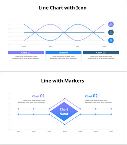 Unique Line chart_8 slides