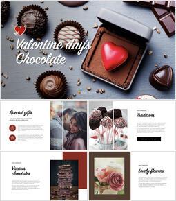 Valentine's day chocolate Keynote Design_40 slides