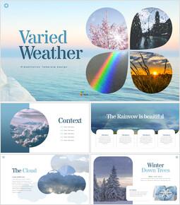 Varied Weather presentation slide design_40 slides
