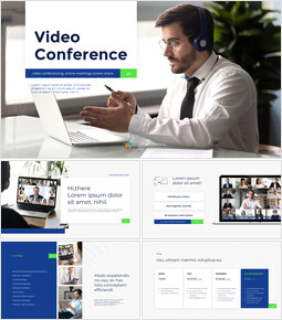 Video Conference Service PPT Templates Design_13 slides