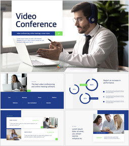 Video Conference Service team presentation template_13 slides