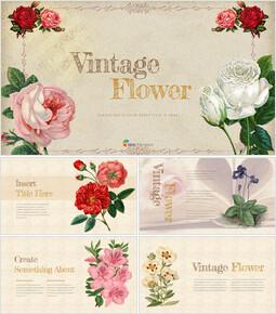 Vintage Flower Best Google Slides_35 slides