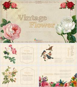 Vintage Flower PowerPoint Presentation PPT_35 slides
