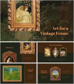 Vintage Frame Simple PowerPoint Template Design_35 slides