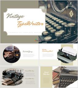 Vintage Typewriter Google Docs PowerPoint_35 slides