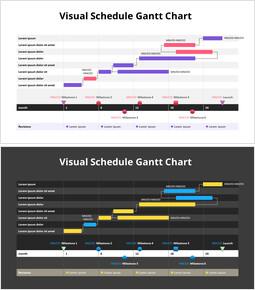 Visual Schedule Gantt Chart_2 slides