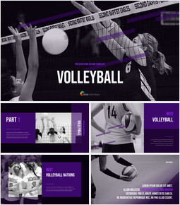 Volleyball Background PowerPoint_35 slides