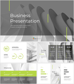 Wavy Abstract Background Pitch Deck startup presentation template_13 slides