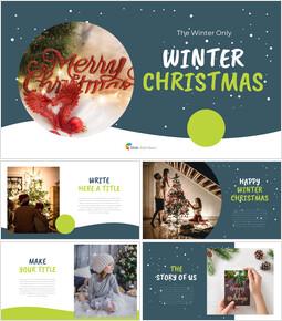 Winter Christmas Google Slides Themes for Presentations_40 slides