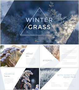 Winter Grass team presentation template_40 slides