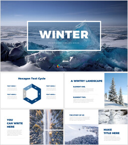 Winter Simple Slides Design_40 slides