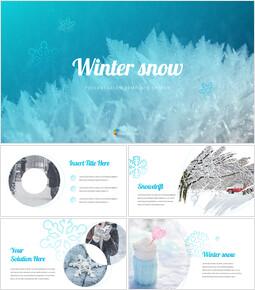 Neve invernale Google slides temi e modelli_40 slides