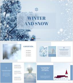Neve invernale Presentazione Google Slides Modelli_40 slides