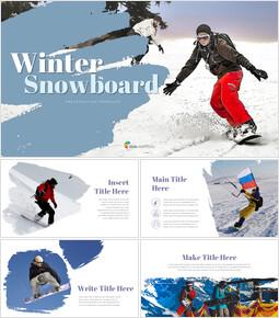 Winter Snowboard Google PowerPoint Presentation_40 slides