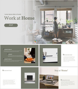Work at Home Easy Google Slides Template_40 slides