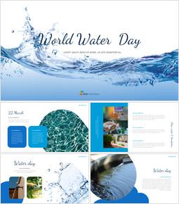 World Water Day template design_40 slides