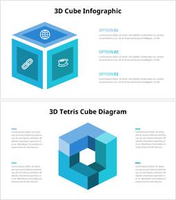 Diagramma infografico cubo 3D_4 slides