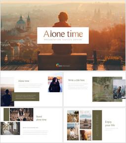 혼자만의 시간 제품 피치 프레젠테이션 템플릿_35 slides