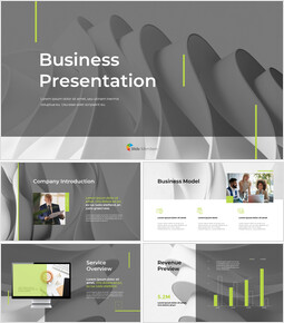 Animated Templates - Wavy Abstract Background Pitch Deck_13 slides