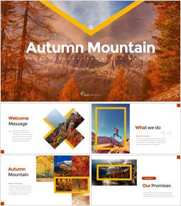 Montagne d\'automne Modèles de présentation d\'entreprise_35 slides