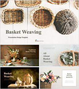 Basket Weaving keynote template download_35 slides