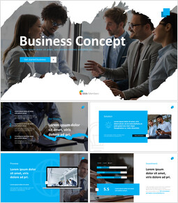 Best Business Concept powerpoint animation template_13 slides