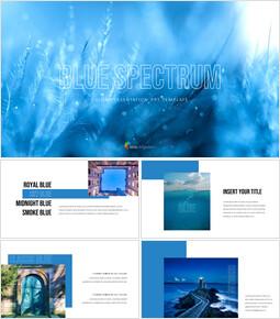 블루 스펙트럼 PPT 템플릿_35 slides