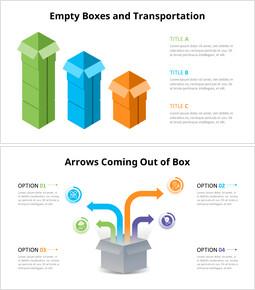 Diagramma infografica scatole_4 slides
