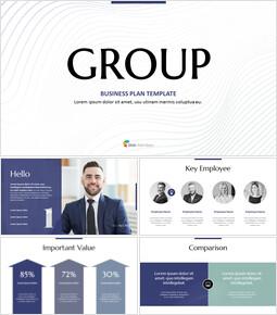 Business Group Plan Simple Presentation PowerPoint Templates Design_40 slides