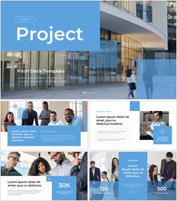 Plan de projet d\'entreprise Conception de modèle PowerPoint simple_13 slides