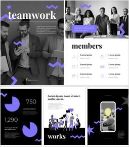 Business Teamwork Vertical Best PowerPoint Presentations_27 slides
