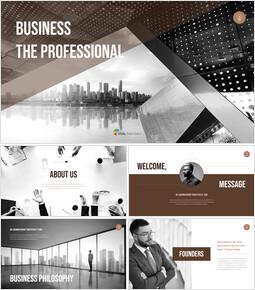 ビジネスプロフェッショナル ビジネスプレゼンテーションテンプレート_50 slides