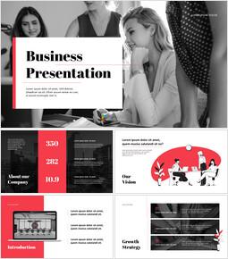 ビジネスタイトルパワーポイントプレゼンテーションビデオ_13 slides