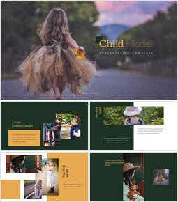 Modèle enfant Arrière-plans PowerPoint_35 slides
