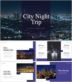 Gita notturna in città Design del keynote_35 slides