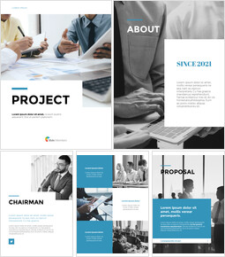 Progetto aziendale di layout pulito PPT PowerPoint_27 slides