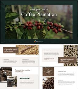 Coffee Plantation Apple Keynote Template_35 slides