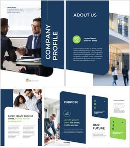 Profilo aziendale verticale Formato di presentazione_26 slides