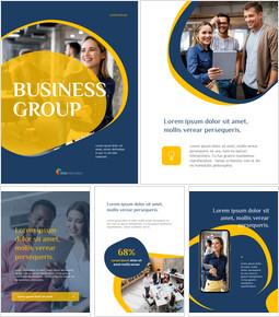Kreative Unternehmensgruppe PPT-Thema_23 slides