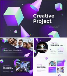 クリエイティブプロジェクトアブストラクトデザインパワーポイントプレゼンテーションビデオ_13 slides