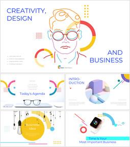 창의성, 디자인 및 비즈니스 피피티 배경_50 slides