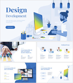 Design Development Business Pitch Deck Animated Slides_14 slides