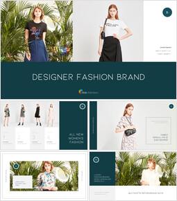 디자이너 패션 브랜드 피피티 배경_35 slides