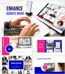 Enhance Remote Work PowerPoint Design_50 slides