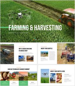 농업 및 수확 베스트 파워포인트 프레젠테이션 템플릿_35 slides