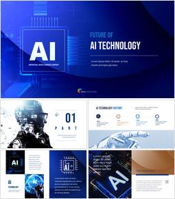 Future of AI Technology Easy Presentation Template_50 slides
