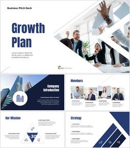 Plan de croissance Pitch Deck Modèles PPT simples_13 slides