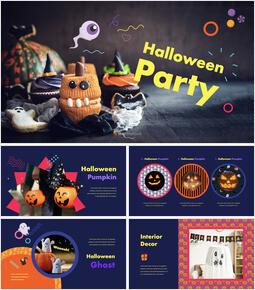 Halloween Party Creative Keynote_35 slides